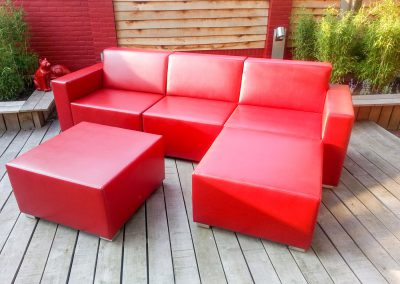 Loungebank rood