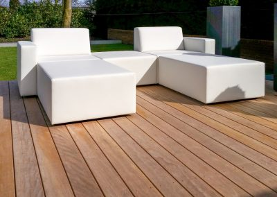 Loungestoelen wit