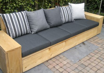 Bank outdoor, hout/grijs