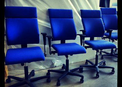 Bureaustoelen, blauw