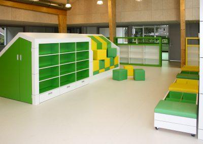 Speelkast groen/geel